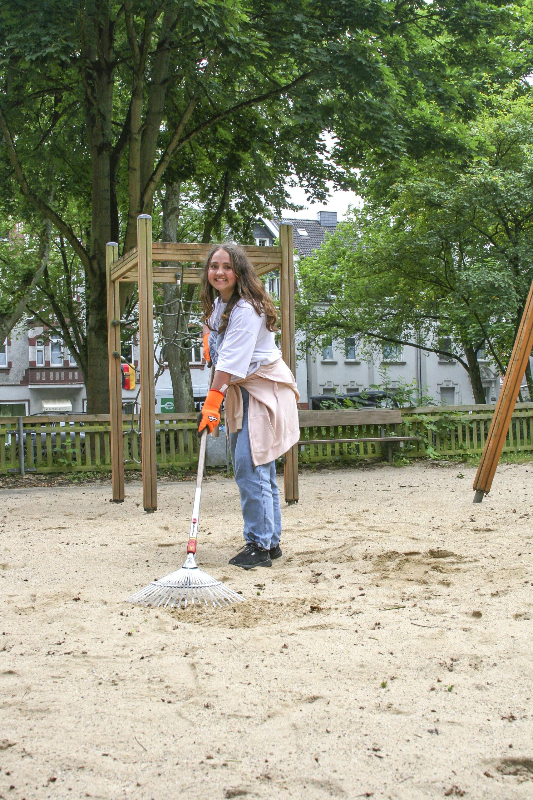 Gartenarbeit für den guten Zweck